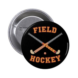 Field Hockey Sticks 6 Cm Round Badge