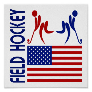 Field Hockey United States Poster