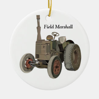 Field Marshall Double-Sided Ceramic Round Christmas Ornament