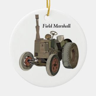 Field Marshall Round Ceramic Decoration