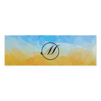 Field Monogram Pack Of Skinny Business Cards