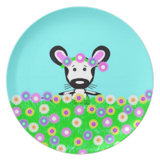 Field Mouse in a Field of Flowers Dinner Plates