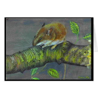 Field mouse painting card