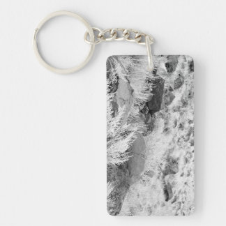 Field of Basalt Double-Sided Rectangular Acrylic Key Ring