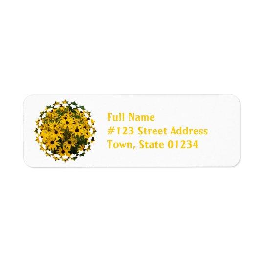Field of Black Eyed Susan Mailing Labels