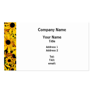 Field of Black-Eyed Susans Business Card Templates
