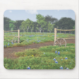 Field of Bluebonnets Mouse Pad