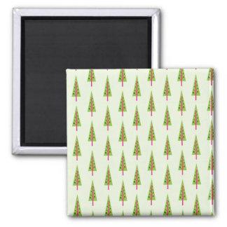 Field of Christmas Trees Fridge Magnet