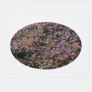 field of colored flowers faded plant photo receiving blanket