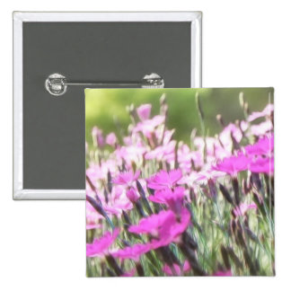 Field Of Cottage Pinks Pinback Button