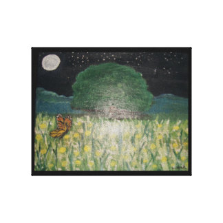 Field of Daisies Stretched Canvas Prints