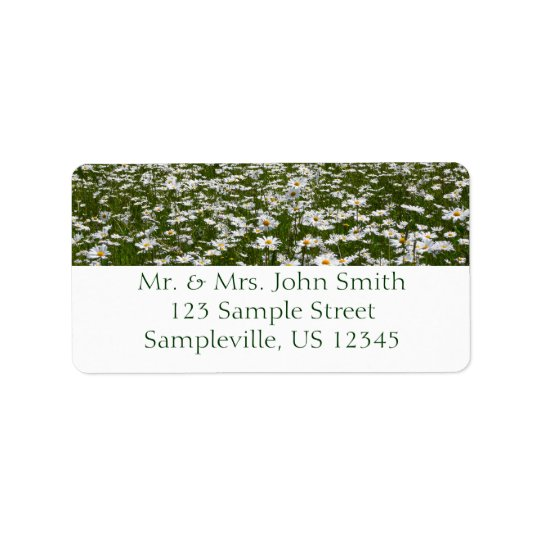 Field of Daisies Nature Photo Label