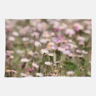 Field of Daisies Photo Kitchen Towel