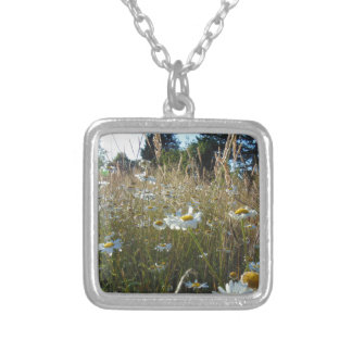 Field of Daisies Silver Plated Necklace