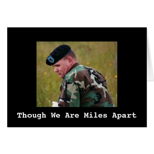 Field Of Dreams, Though We Are Miles Apart Card Zazzle