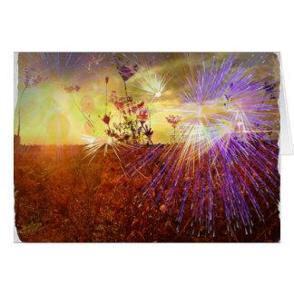Field of Fireworks - Blank Greeting Card