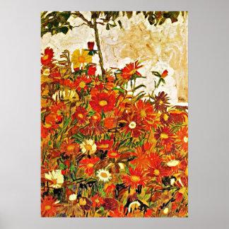 Field of Flowers - Egon Schiele Poster
