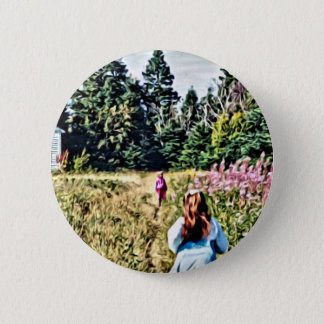 Field of flowers in Bic 6 Cm Round Badge