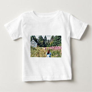 Field of flowers in Bic Baby T-Shirt