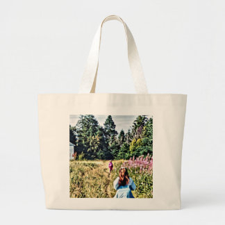 Field of flowers in Bic Large Tote Bag