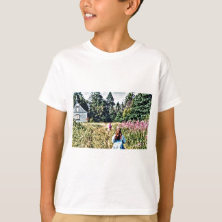 Field of flowers in Bic T-Shirt