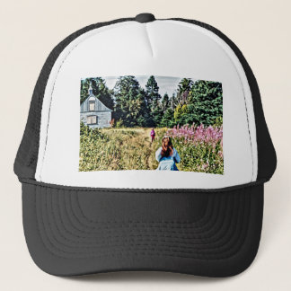 Field of flowers in Bic Trucker Hat