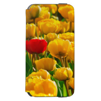 Field Of Flowers With Red And Yellow Tulips Incipio Watson™ iPhone 6 Wallet Case