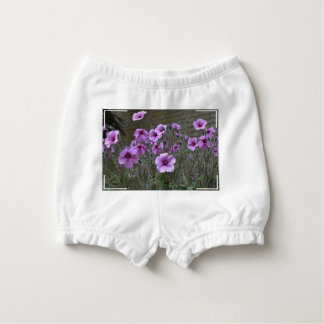 Field of Geraniums Nappy Cover
