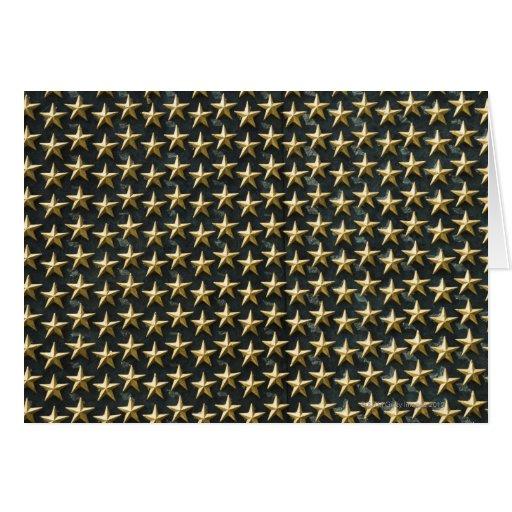 Field of gold stars at World War II Memorial Card