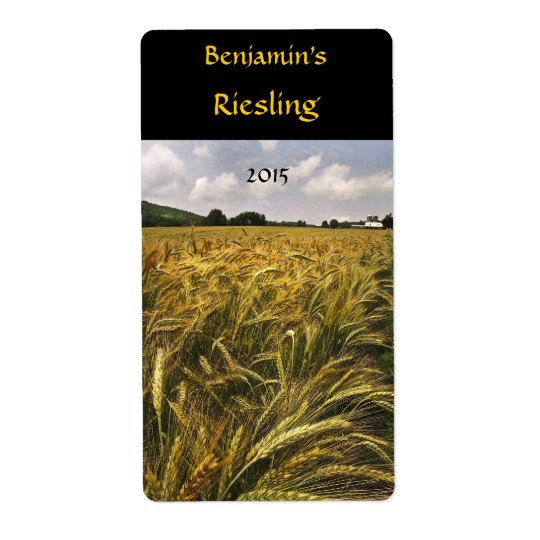 Field of Grain Wine Label Shipping Label