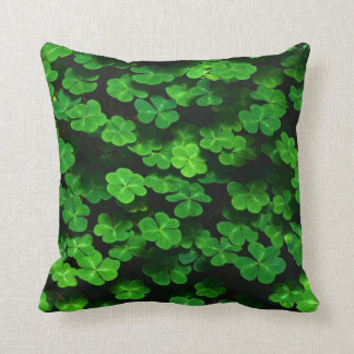 Field Of Green Shamrock Clover Cushion