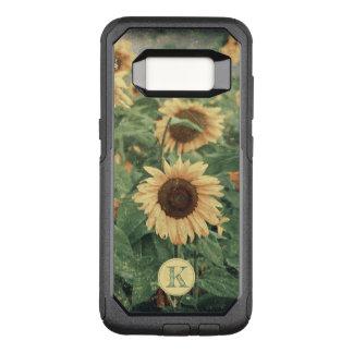 Field Of Grunge Yellow Giant Sunflowers OtterBox Commuter Samsung Galaxy S8 Case