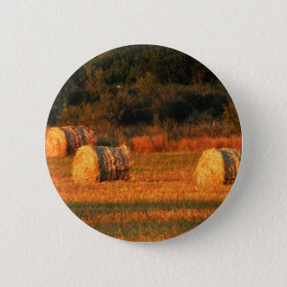 Field of hay 6 cm round badge