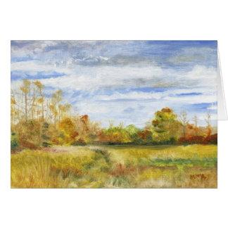 """""""Field of Long Lane Farm"""" Card"""