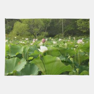 Field of Lotus Flowers Tea Towel