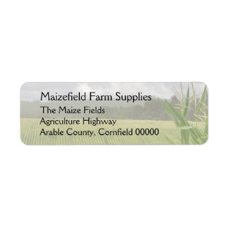 Field of maize landscape return address label
