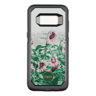 Field Of Pastel Pink Giant Weeping Sunflowers OtterBox Commuter Samsung Galaxy S8 Case