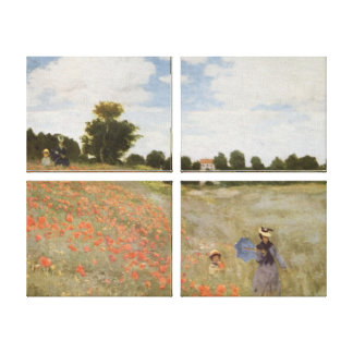 Field of Poppies Claude Monet Canvas Print