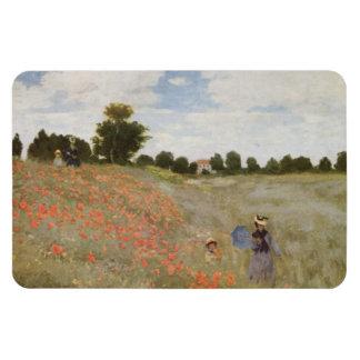 Field of Poppies Claude Monet Rectangular Magnets