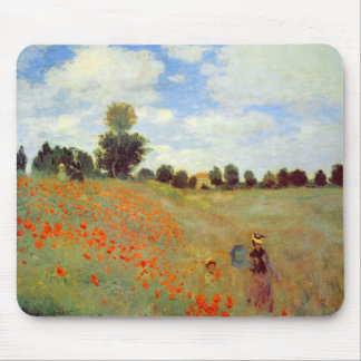 Field of Poppies, Claude Monet Mouse Pad
