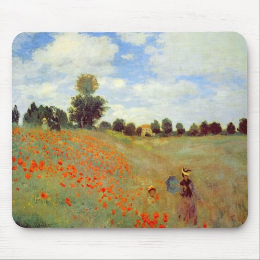 Field of Poppies, Claude Monet Mousepads