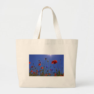 field-of-poppies large tote bag