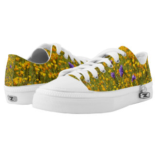 Field of Poppies Low Tops Printed Shoes