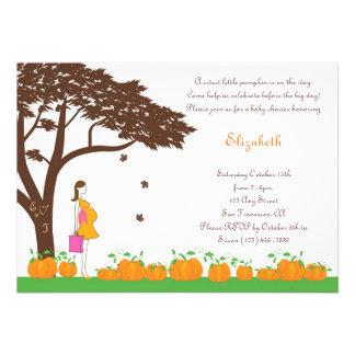 Field of Pumpkins Girl Baby Shower Invitations