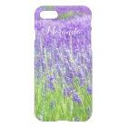 Field of Purple Lavender Flowers Personalised iPhone 8/7 Case