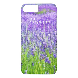 Field of Purple Lavender Flowers Personalized iPhone 8 Plus/7 Plus Case