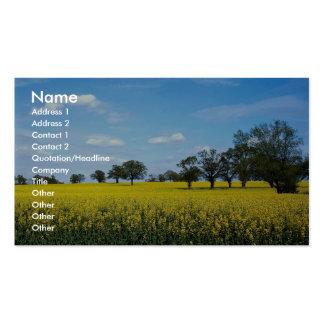 Field of rape, Surrey, England Business Card Templates