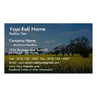 Field of rape, Surrey, England Business Card Template
