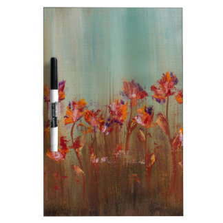 Field of Red Flowers Dry Erase White Board