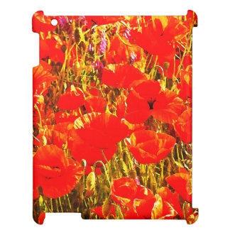 Field of Red Poppies Wildflowers Art Design 2 iPad Covers